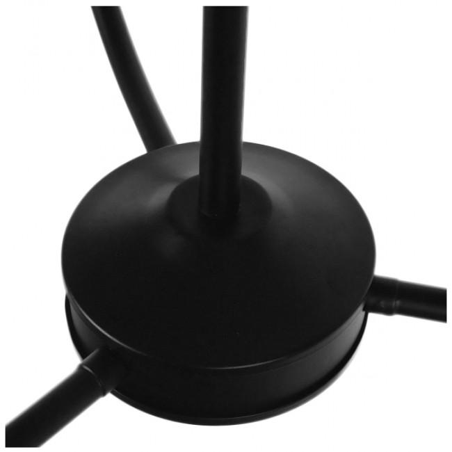 Vintage Industrial Κρεμαστό Φωτιστικό Οροφής Τρίφωτο Μαύρο Μεταλλικό Πολυέλαιος με Καπέλο Φ56 GloboStar LIMI 01091 - 9