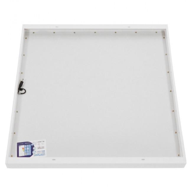 Πλαίσιο Στήριξης PVC Επιτοίχιας Τοποθέτησης για LED Πάνελ 60x60 Λευκό GloboStar 01816 - 3