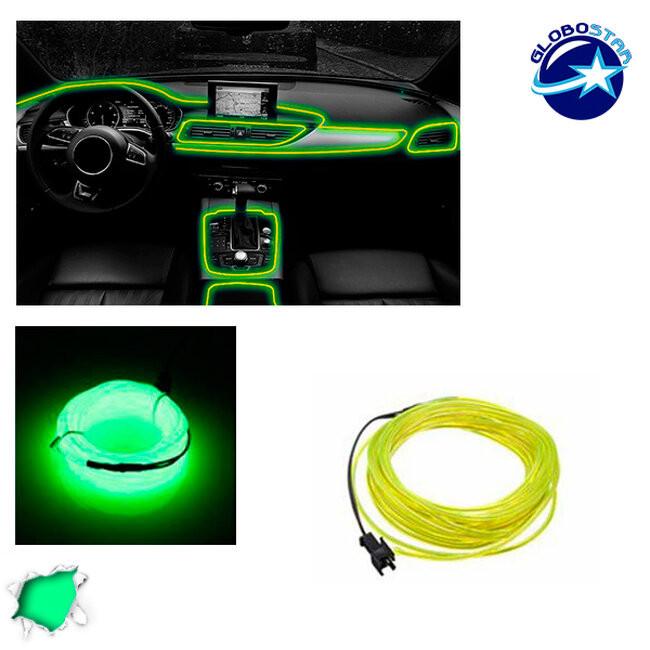 Εύκαμπτο φωτιζόμενο καλώδιο Neon Πράσινο Φωσφορούχο GloboStar 08002 - 1