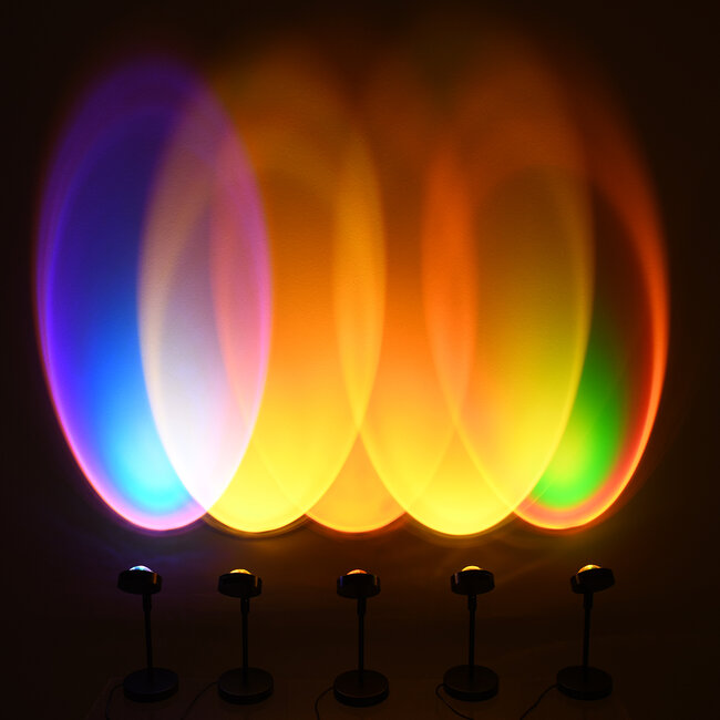 GloboStar® 00813 Μοντέρνο Επιτραπέζιο Φωτιστικό Μονόφωτο Μεταλλικό LED 12W DC 5V Rotation 180° SUNSET - 5