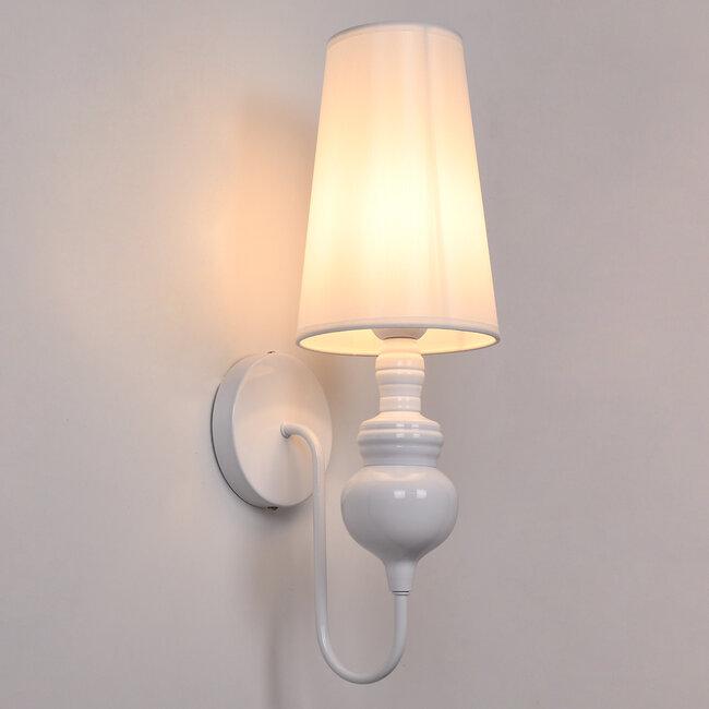 LAURA 01499 Μοντέρνο Φωτιστικό Τοίχου Απλίκα Μονόφωτο Μεταλλικό Λευκό Φ15 x Μ15 x Π21 x Y48cm - 3