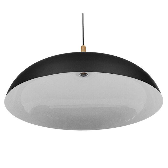 Μοντέρνο Κρεμαστό Φωτιστικό Οροφής Μονόφωτο Μαύρο Μεταλλικό Καμπάνα Φ60  VALLETE BLACK 01259 - 6