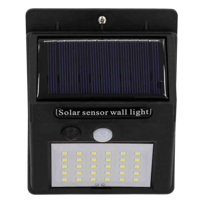 GloboStar® 71501 Αυτόνομο Ηλιακό Φωτιστικό LED SMD 8W 800lm με Ενσωματωμένη Μπαταρία 1200mAh - Φωτοβολταϊκό Πάνελ με Αισθητήρα Ημέρας-Νύχτας και PIR Αισθητήρα Κίνησης IP65 Ψυχρό Λευκό 6000K - 8