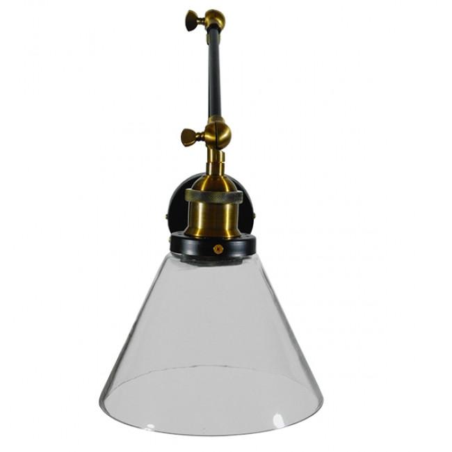 Vintage Φωτιστικό Τοίχου Απλίκα Μονόφωτο με Σπαστό Μεταλλικό Βραχίονα και Γυάλινη Καμπάνα Φ19 GloboStar OLIVIA 01068 - 4