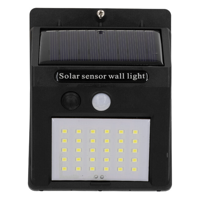 GloboStar® 71501 Αυτόνομο Ηλιακό Φωτιστικό LED SMD 8W 800lm με Ενσωματωμένη Μπαταρία 1200mAh - Φωτοβολταϊκό Πάνελ με Αισθητήρα Ημέρας-Νύχτας και PIR Αισθητήρα Κίνησης IP65 Ψυχρό Λευκό 6000K - 6