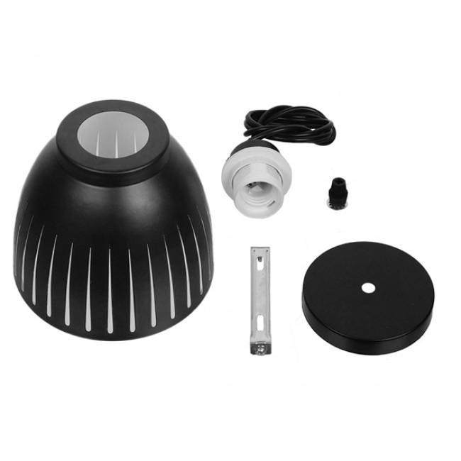Μοντέρνο Κρεμαστό Φωτιστικό Οροφής Μονόφωτο Μεταλλικό Μαύρο Λευκό Καμπάνα Φ13 GloboStar CHERITH 01478 - 8