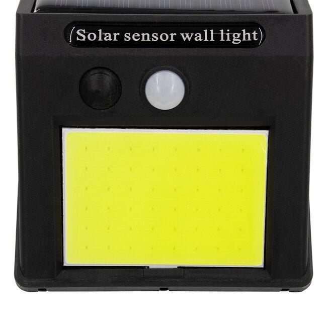 71495 Αυτόνομο Ηλιακό Φωτιστικό LED COB 10W 1000lm με Ενσωματωμένη Μπαταρία 1200mAh - Φωτοβολταϊκό Πάνελ με Αισθητήρα Ημέρας-Νύχτας και PIR Αισθητήρα Κίνησης IP65 Ψυχρό Λευκό 6000K - 7