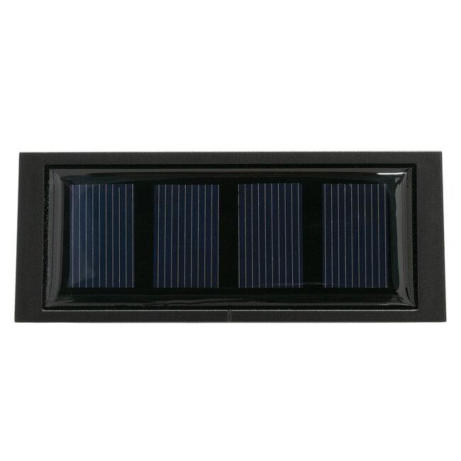 GloboStar® 71510 Αυτόνομο Ηλιακό Φωτιστικό LED SMD 1W 100 lm με Ενσωματωμένη Μπαταρία 1000mAh - Φωτοβολταϊκό Πάνελ με Αισθητήρα Ημέρας-Νύχτας για Αρίθμηση Δρόμου με Αριθμό 0 IP55 Ψυχρό Λευκό 6000k - 6