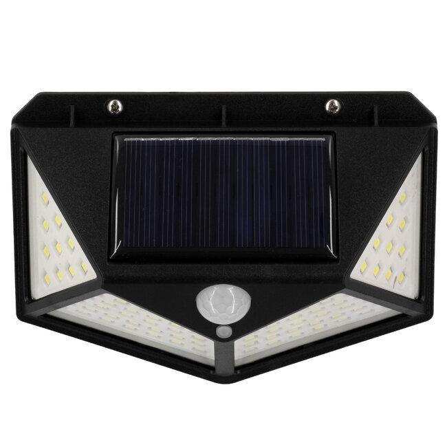 GloboStar® 71499 Αυτόνομο Ηλιακό Φωτιστικό LED SMD 10W 1000lm με Ενσωματωμένη Μπαταρία 1200mAh - Φωτοβολταϊκό Πάνελ με Αισθητήρα Ημέρας-Νύχτας και PIR Αισθητήρα Κίνησης IP65 Ψυχρό Λευκό 6000K - 8