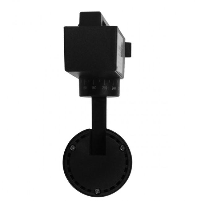 Μονοφασικό Bridgelux COB LED Μάυρο Φωτιστικό Σποτ Ράγας 10W 230V 1250lm 30° Φυσικό Λευκό 4500k GloboStar 93094 - 4